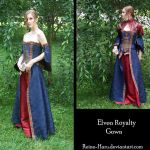 Elven Royalty Gown Complete by Reine-Haru