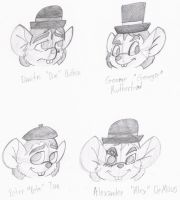 GMD: Mouse Droogs Headshots by MouseAvenger