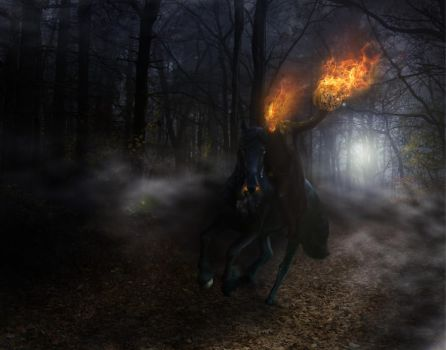 The Headless Horseman by Jcdow3Arts