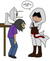 Altair and the Fan by Kaxen6