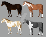 Horse Adoptable Set 2 WINNERS by dontkillthekarma