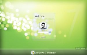 Windows 7 Login UI by mvgraphics
