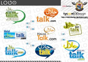 halaltalk logo by stitchDESIGN