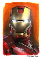 Iron Man Portrait by RandySiplon