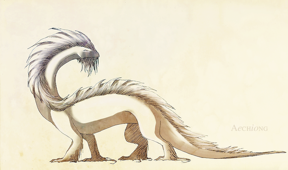 Furred Dragon by dolphinabottle