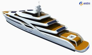 Concept Superyacht 3D Model by Gandoza