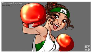 Boxer Girl by Tsukiko-stock