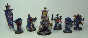Ultramarines Command Squad by cyphercodicer2