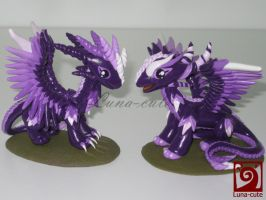 purple dragon love by Luna-cuteXD