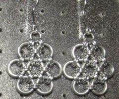 Chainmaille Earring 62 by Des804