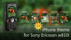 iPhone theme for SE w810i 2.0 by yodino
