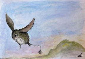 Flying bunny by LauraMSS