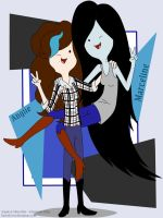 Angiie and Marceline by RavenEvert