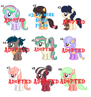 CLOSED - ADOPTABLES SET #6 by rem-ains