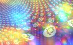 Ubuntu Holographic Rainbow Fractal Wallpaper by cdooginz