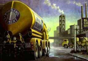 Foden Blue Circle Cement by Artistjeffries