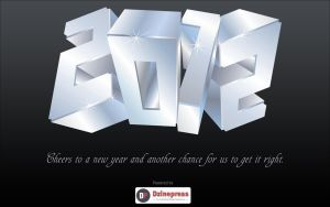 New Year 2012 Widescreen Wallpaper by kashifmughal