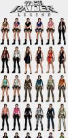 Tomb Raider Legend - Lara's outfits by HailSatana