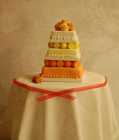 Summer wedding cake by MiniatureChef