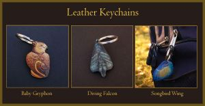 Leather Keychains 1 by windfalcon