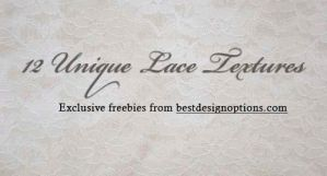 12 Unique Lace Textures by fiftyfivepixels