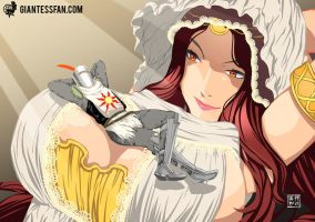 The Gentle Goddess and Her Loyal Follower by giantess-fan-comics