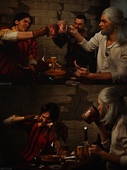 TW:WH - Drunk Witchers by MilliganVick