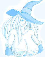 Dragon's Crown Sorceress doodle by Drawomon
