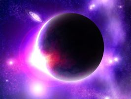 Purple moon eclipse by vissroid