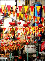 Flags Over Chinatown by jltrafton