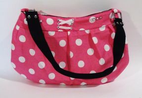 Pink Dotted Purse by MammaShaClothing