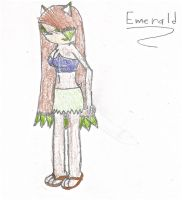 Oc Emerald by Wolfblade-Numbs