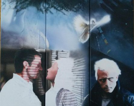 WIP: Blade Runner painting - three canvas by SimonaZ