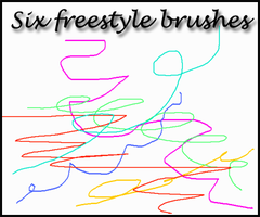 Six freestyle brushes by Sweet83