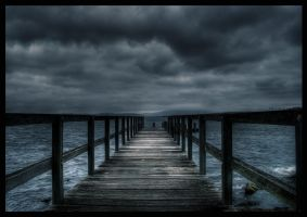 oncoming storm on the lake by alcohobo