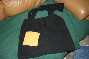Black denim bag by moordred-fangirl