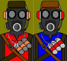 Pyrout - red and blue team by spyaroundhere35