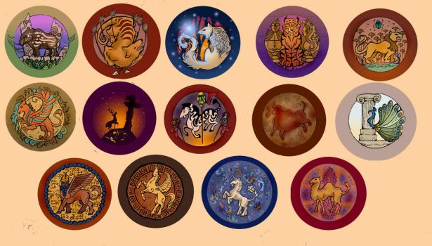 Real and Imagined: Button Set by Acarron