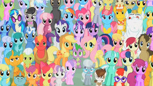 My Little Pony Season 5 Wallpaper- Full of Ponies by Snickers2829