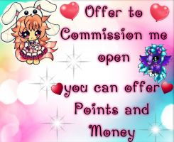 open to commission me open by SweetAdoptParadies