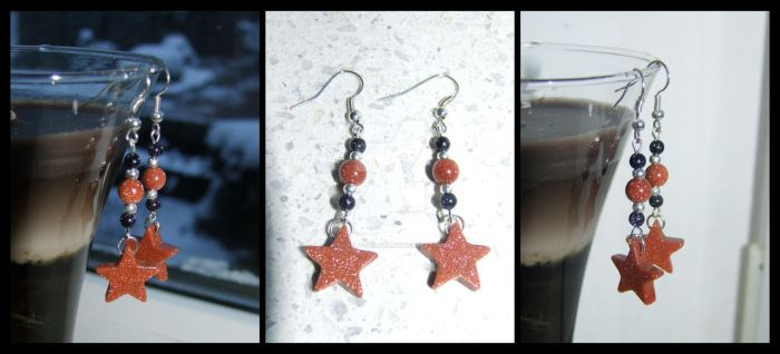 Star Earrings by lonely--soldier