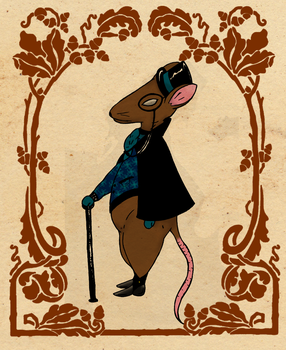 Mr. Fancy Rat by The-Lady-Lily