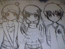 Emi Alice and Marc another outcome of rping xD by NorthGuam