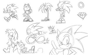 Sonic sketches 2 by RGXSuperSonic