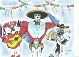 transformers animated Mexican Fiesta by ailgara
