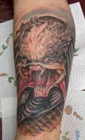 predator tattoo done by graynd