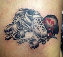 Roller Derby tattoo by Juliano-Pereira