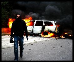 burned car by atut