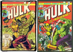 incredible hulk 181 cover recreation comparative by wanderlei78