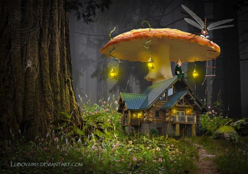 House forest gnome by Lubov2001